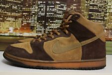 pretty nice 29582 7dfcc Nike Sb Dunk High Brown Pack Maple Silver Box 2003 Skateboarding Sneakers Sz  13