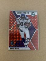 2020 Panini Mosaic Football Randy Moss Hall Of Fame Red Refractor Prizm Vikings