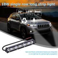 18W 6000K LED Work Light Bar Driving Lamp Fog Off Road SUV Car Truck Spotlight