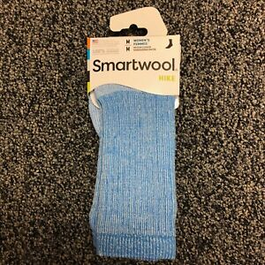 Smartwool Womens Hike Medium Weight Merino Wool Crew Socks, Blue Heather, Medium