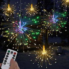 120 LED Firework Light Copper Wire Fairy String Lights Christmas Party Decor rgb