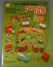 VINTAGE WHITMAN TINY WESTERN RODEO PRESS-OUT ACTIVITY BOOK UNUSED