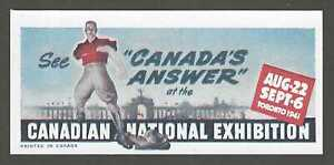 See Canada's Answer at the Canadian National Exhibition, 1941, Poster Stamp