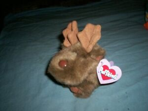 Vintage Puffkins  Plush Stuffed Toy with tag-Gus the Moose