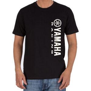 Genuine Yamaha Racing Logo Superbike Motocross Streetwear Black Men Tee T-Shirt