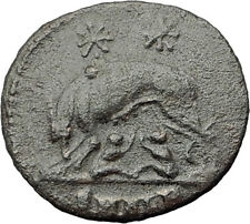 CONSTANTINE I the GREAT 330AD Romulus Remus WOLF Rome Ancient Roman Coin i63274