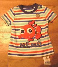 George Disney NEMO Striped Tee T Shirt Top 12-18 Months BNWT* Multi Uk Freepost