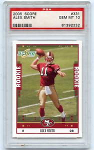 2005 SCORE #331 ALEX SMITH ROOKIE CARD RC, SAN FRANCISCO 49ERS - PSA 10 (2232)