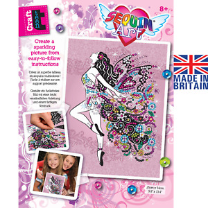 Sequin Art 1809 Fairy Craft Project From The Craft Teen Range
