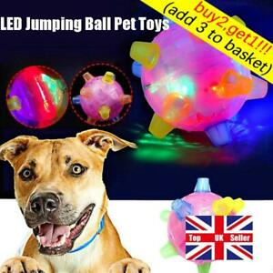 Pets Dogs Toys Joggle Vibrating Changing Color Jumping Flashing Dog Ball LED