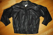 Vintage NORDSTROM Point Of View Black Leather ROCKABILLY Ladies Jacket Size M