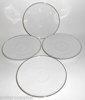 H & C Heinrich China Porcelain Platinum Band Set/4 Saucers BUY-IT-NOW