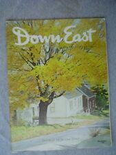 DOWN EAST Maine mag OCT 1976 BIRD CARVER WENDELL GILLEY Rockport Galloway Cattle