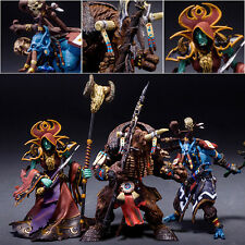 Set 3pcs WOW World of Warcraft Tauren Shaman Jungle Troll Priest Figure Figurine