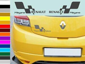RENAULT Megane car body tuning custom vinyl Sticker Decal 2 psc. 200 x 81mm