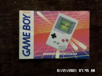 Gameboy System Console (Gameboy) GB Instruction Manual Only NO GAME