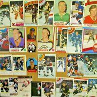 1969-70/80's+ NHL Lot [] Bobby Orr/Gretzky/Mario Lemieux/Crosby/Hull/Bossy (RC)+