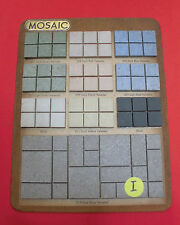 Vintage Ceramic Tile...The Mosaic Tile Co.   Samples tiles on masonite board (I)