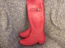 Ladies Dark Pink Wellington Boots Size 4 Long New