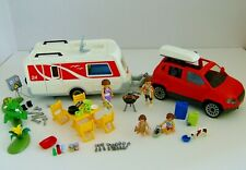 Playmobil Caravan, Family Car, Figures & Accessories