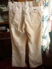 30x29 FIT True Vtg 70s Bootcut BIG YANK IVORY Hippy Cords Mens BOOTCUT Jeans