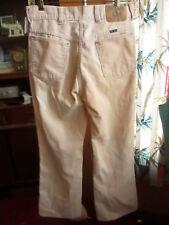 30x29 Fit True Vtg 70s Bootcut Big Yank Ivory Hippy Cords Mens Bootcut Jeans