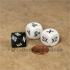 NEW Compass D8 & 2 Multiplier D6 D&D RPG Game Dice Set