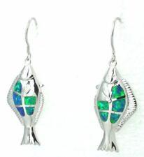 Pendientes de joyería con gemas ganchos azul