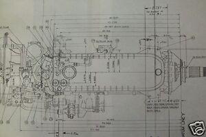ROLLS ROYCE MERLIN AERO ENGINE PLAN BLUEPRINTS RARE DETAIL PERIOD DRAWINGS WW2