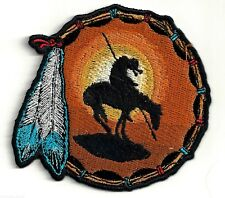 END OF TRAIL - HORSE IN SUNSET - DREAM CATCHER - IRON-ON PATCH