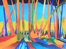 Art Original Watercolor Painting of HAWAII RAINFOREST by Artist Karin Novak-Neal