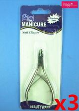 3pcs Nail Clipper Cuticle Dead Skin Scissor Manicure Pedicure Kit (00507x3)