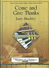 """""""COME AND GIVE THANKS"""" PIECE FOR BRASS & IVORY INSTRUMENTS PIANO MUSIC BOOK NEW!"""