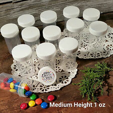 "24 Pill Jars 2+"" tall Screw White Cap 1 ounce Favor Size Container #3812 USA New"