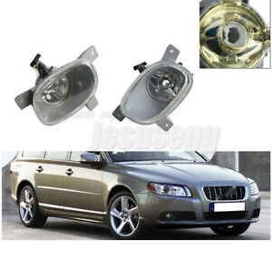 2Pcs Left and Right Front Bumper Fog Light Lamp For Volvo S80 1999-2006