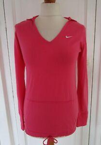 Ladies NIKE athletic dept. Pink Long Sleeve Top Hoodie S Small / UK 8-10