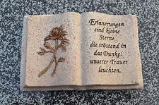 Grabengel Engel Schutzengel Grabschmuck  Deko Buch klein m. Spruch creame/bronze