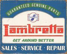 10 x 8 Lambretta service de vente réparation Scooter Mods Brighton plaque glacoide N374