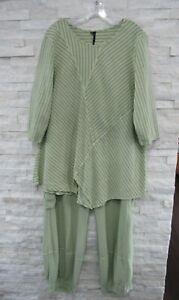 NWT Focus By JJ Green Funky Flared Tunic & Balloon Hem Pants Set XL LAGENLOOK