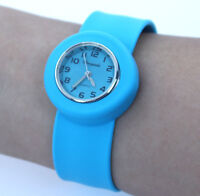10 Colour Choose Fashion Candy Kids Watch Tape Slap Jelly Quartz Wristwatch A5