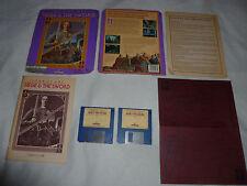 AMIGA COMPUTER PC GAME JOAN OF ARC SIEGE & THE SWORD W MANUAL REFERNCE CARD RARE