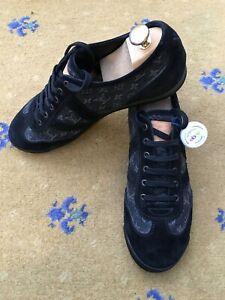 Louis Vuitton Mens Shoes Black Trainers Sneakers UK 9 US 10 EU 43 Monogram