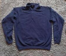 Gildan Zip neck sweatshirt Navy XL workwear
