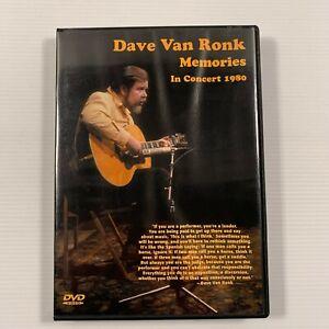 Dave Van Ronk Memories In Concert 1980 (DVD 2004) Region 4