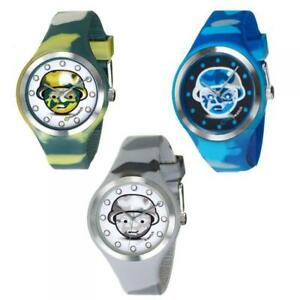 EMOTIWATCH Mens Womens Watch Silicone Coloured Camouflage Military Mimetic