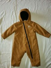 NWOT Carhartt Baby Boy Quick Duck INSULATED Snow Suit 12M Winter Bunting