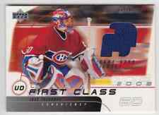 2002-03 Upper Deck First Class Gold Jose Theodore Jersey 1 Color #UD-JT
