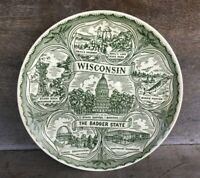 * Souvenir State Plate The Badger State WISCONSIN