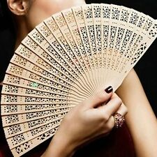 Chinese Style Wooden Fans Wedding Hand Fragrant Party Carved Bamboo Folding Fan