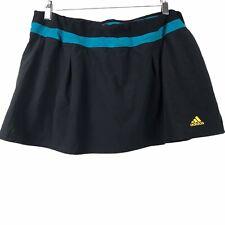 Adidas Climalite Black & Blue Athletic Tennis Skirt Skort Womens Size Large